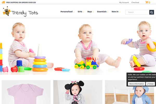 My Trendy Tots - Web Design Project